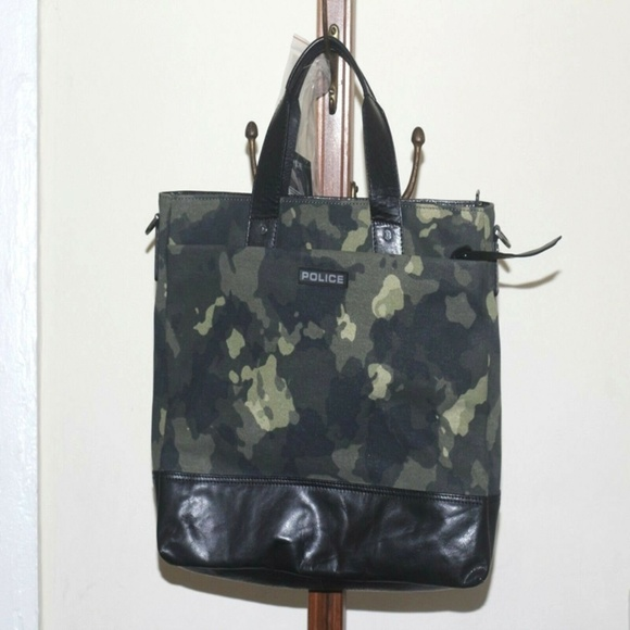 Camo police Briefcase bag